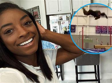 Simone Biles Blows Other Gymnast's Minds With 'Triple Double' Beam Dismount