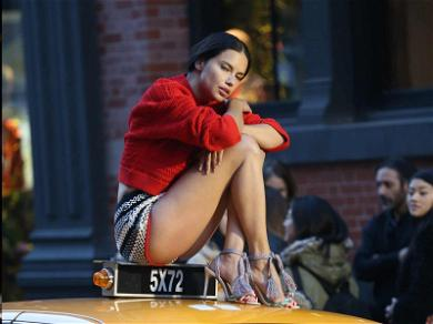 Adriana Lima Gets Paid to Sit on Top of Things