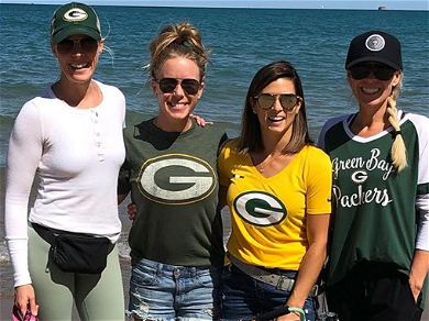 Danica Patrick 'Bravely' Wears Her Packers Gear In Chicago Before BF Aaron Rodgers' Big Game