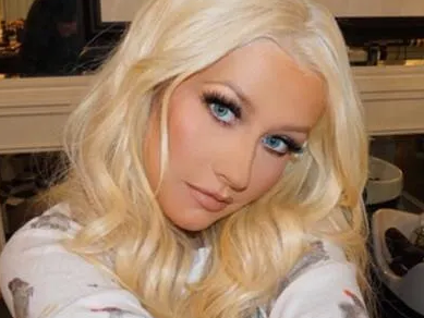 Christina Aguilera Shirtless In Leather For Valentine's Surprise
