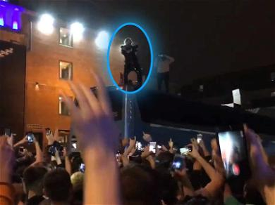 Lil Pump Performs On Top of Tour Bus After Smoke Bombs Shut Down UK Concert