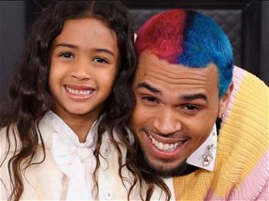 Chris Brown Adorably Brings Daughter Royalty As His Grammy Date