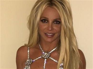 Britney Spears Rides Medical Scooter, Lifting Legs In Sheer Top
