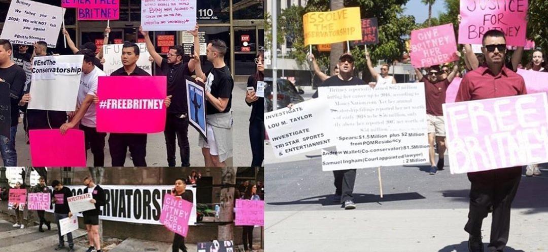 Britney Spears Conservatorship Protestors March Outside LA Court — #FreeBritney Trends On Twitter