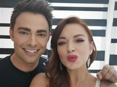 Lindsay Lohan Reunites With 'Mean Girls' Co-Star Jonathan Bennett for 'Beach Club' Aftershow