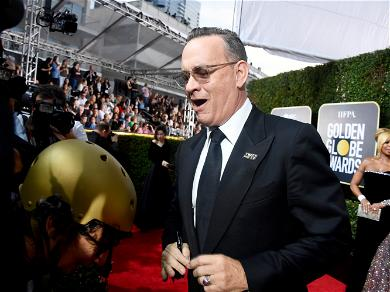 Tom Hanks Suffering From Flu During The Golden Globes, Holds Up 'Emergen-C' Packet