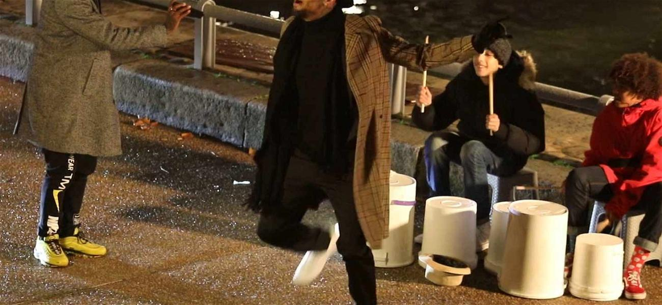 Chris Brown Dances Off Rape Allegations While Filming Music Video in Paris