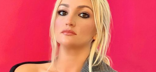 Jamie Lynn Spears Unbuttoned In Strapped-Up Leather