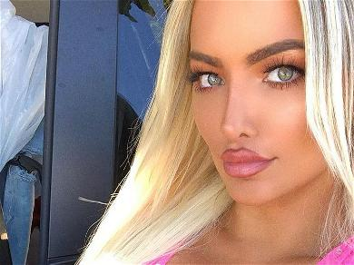 Lindsey Pelas Exposed In Unbuttoned Shirt From Her Backyard: 'Good Morning'