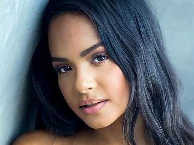 Christina Milian Exposed In Mesh Dress Without Visible Underwear