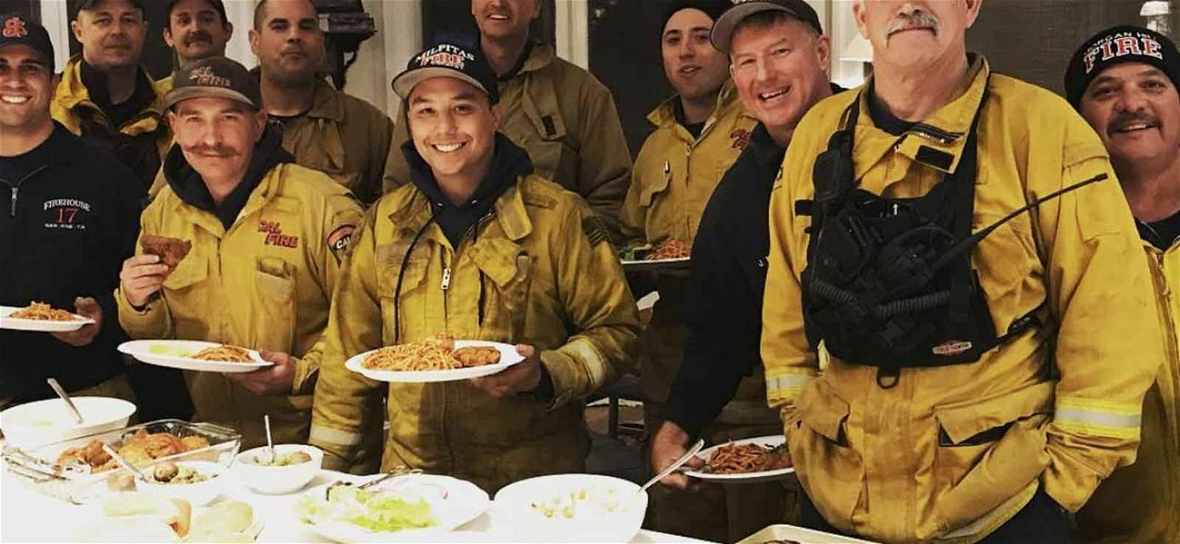 Rob Lowe Thanks and Feeds Firefighters Battling Blaze Near His Home