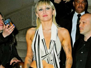 Miley Cyrus 'WERKS' Stunning Body In Skimpy Spandex On Medicine Ball