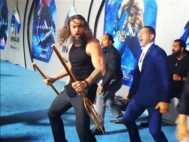 Jason Momoa Performed a Must-See Haka at 'Aquaman' Premiere With His Kids