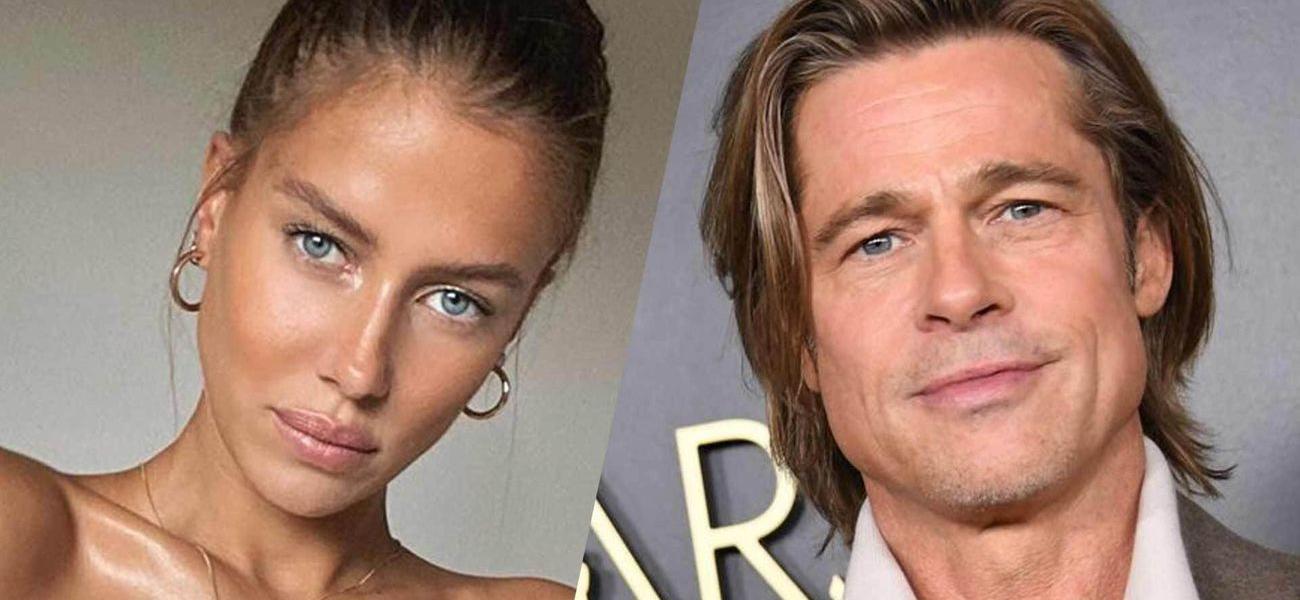 Brad Pitt's Girlfriend Nicole Poturalski Shows Off Toned Abs In Sultry Mirror Selfie