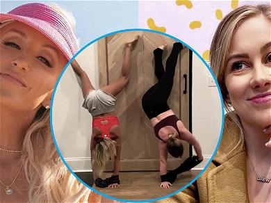 Olympic Gymnasts Nastia Liukin & Shawn Johnson Compete To Put Their Shirts On Upside Down