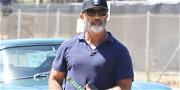 Mel Gibson Carries a 'Samurai Sword' Through Malibu