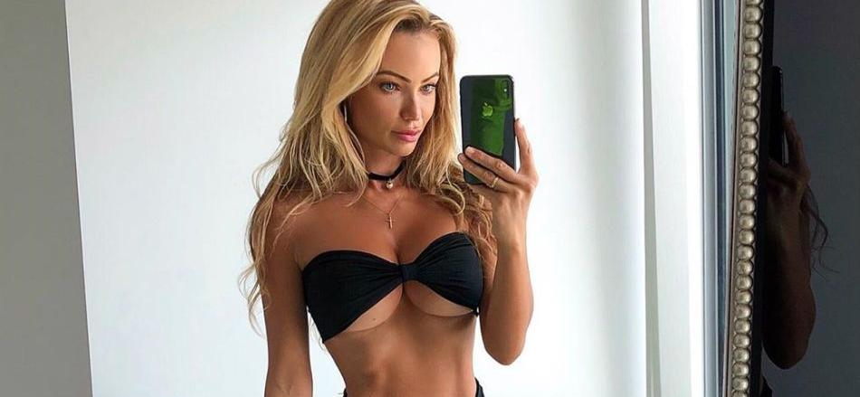 Abby Dowse Is A Naughty Fridge Picker In Underwear & Thigh-Highs