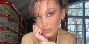 Bella Hadid Bronzes Body In Only A Red G-String