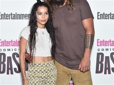 Jason Momoa Is An Adorable Supportive Stepdad Over Zoë Kravitz's Catwoman Casting