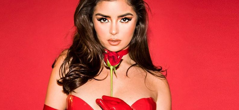Demi Rose Exposes Her 'Pretty Little Thing' In Devil Red Dress