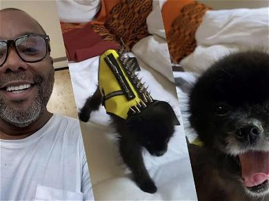 Lee Daniels Buys His Tiny Dog A Coyote Vest: 'That's What Happens When You're On Quarantine'