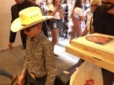 'Yodeling Kid' Mason Ramsey Big Times Crowd On Way Into MTV's 'TRL'