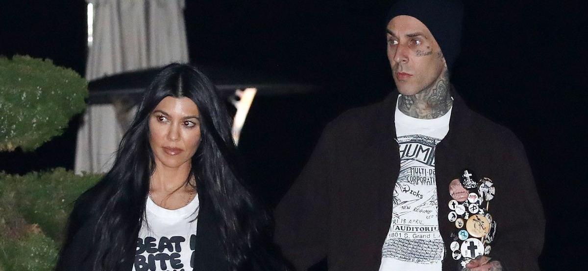 Kourtney Kardashian And Travis BarkerEnjoy DisneylandVacation Amid ShannaMoakler Drama