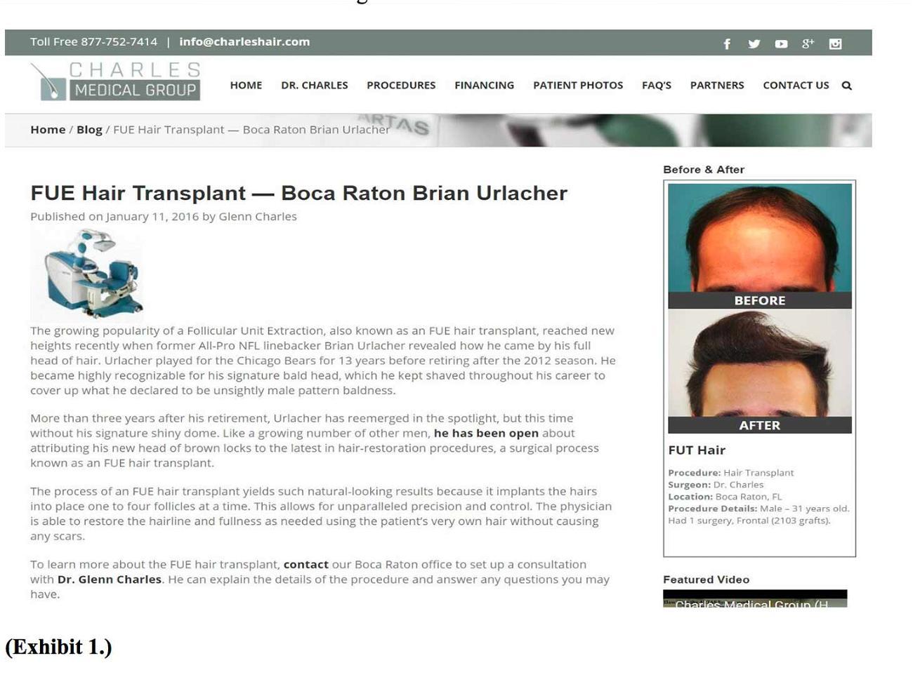 Brian Urlacher Exhibit