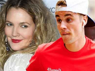 Drew Barrymore and Justin Bieber's Friendship Continues to Grow, Singer Now Using Actress' Face on Drew House Shirts