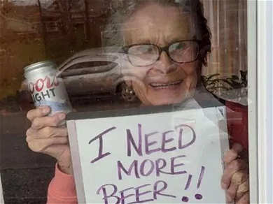 'Coors Light Grandma' Goes Viral After Begging For BEER During Lockdown — See The Photos!