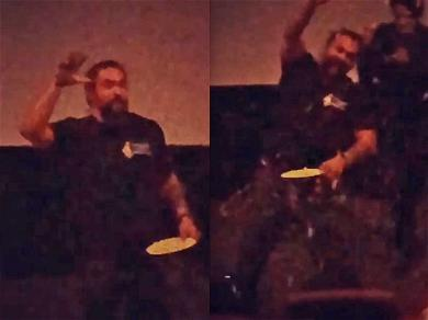 Jason Momoa Throws Popcorn While Renting Out Hawaiian Theater for Private 'Aquaman' Show