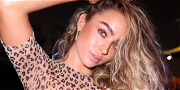 Sommer Ray Unleashes Breasts In Heart-Shaped Cheetah Pasties