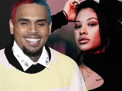 Chris Brown Drops Thirsty Comments On Baby Mama Ammika Harris' Steamy Bikini Shot