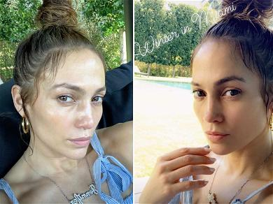J Lo Posts Sizzling Makeup Free Selfies After Dominating 10-Year Challenge