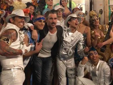Colin Farrell Hangs Out with 'Michael Jackson ONE' Cast in Las Vegas