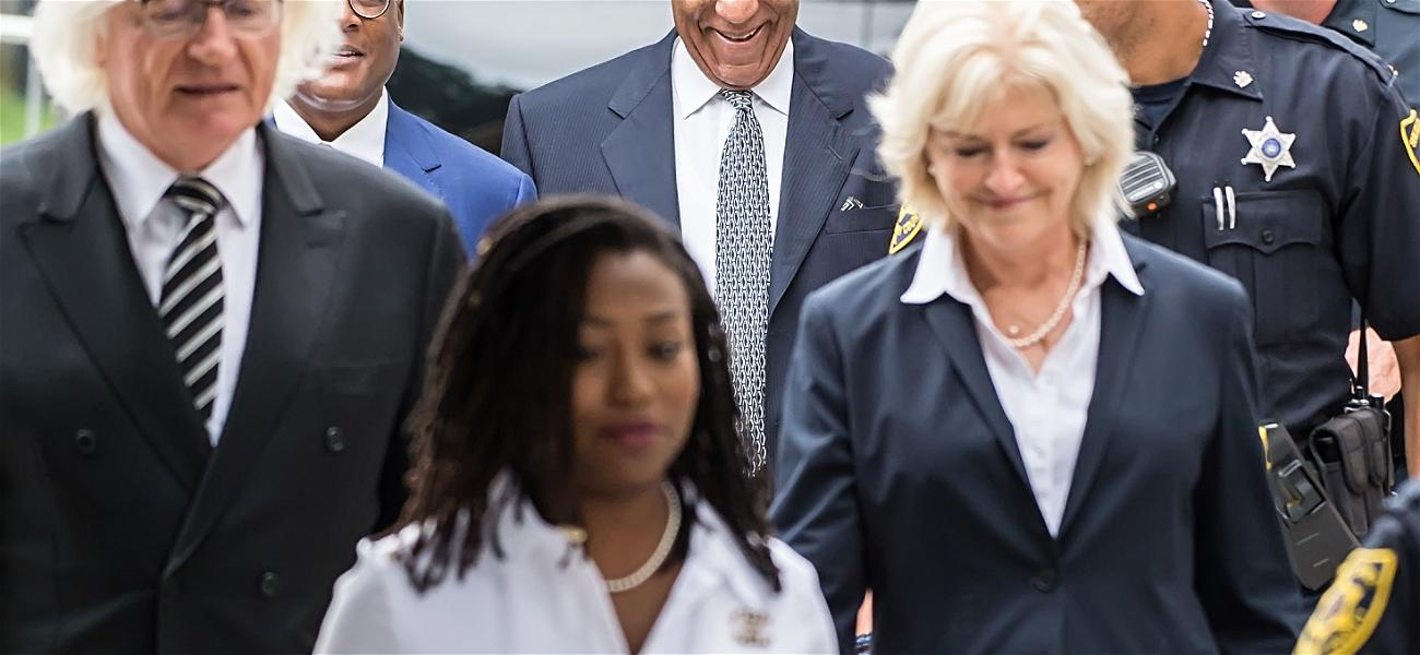 Bill Cosby All Smiles Outside Court with MJ Defense Attorney