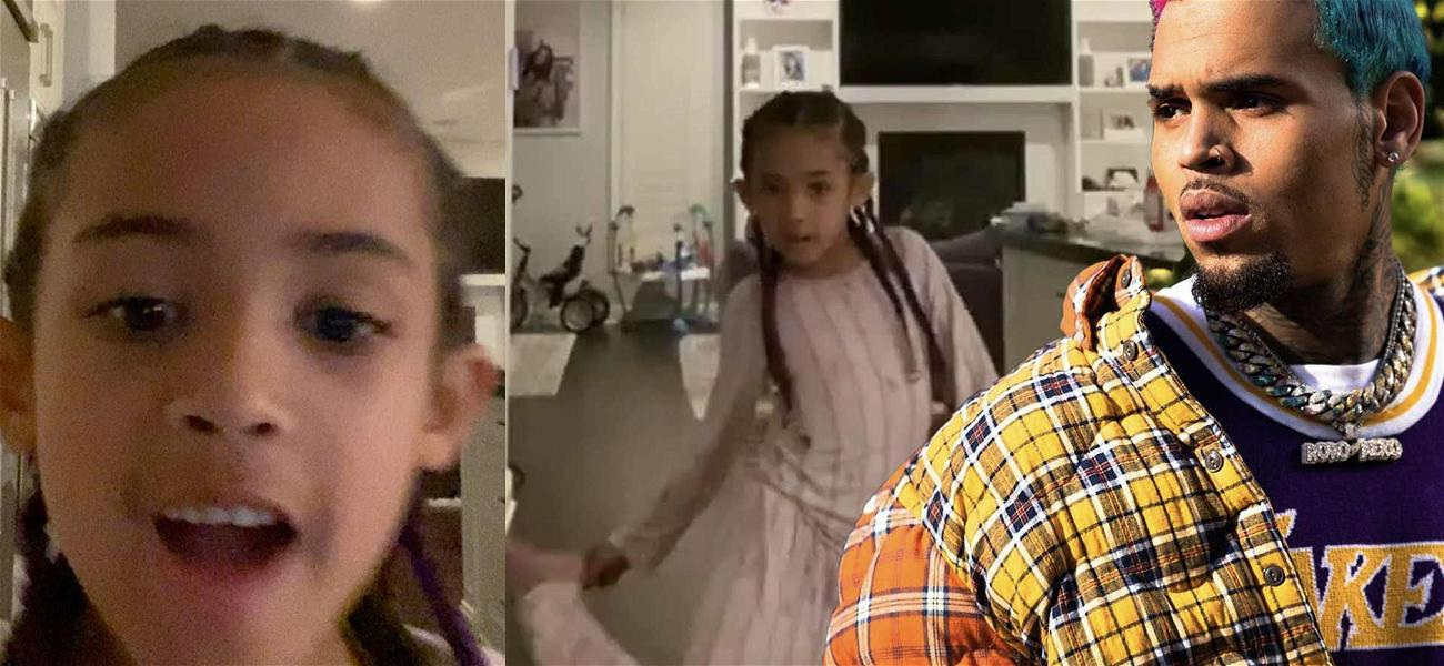Chris Brown's Daughter Royalty Adorably Nails Drake's 'Toosie Slide' Dance To Make Daddy Proud