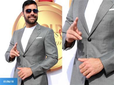 Ricky Martin Wearing Ring on Wedding Finger