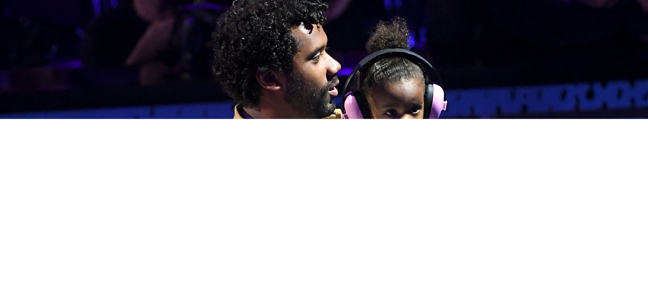 Check Out Russell Wilson's Daughter, Sienna Pick Up The Pom-Poms To Cheer Daddy On At 'MNF'