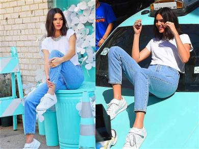 Kendall Jenner Paints The City Blue With Tiffany & Co.