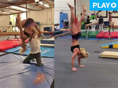 Britney Spears Takes a Tumble, Sticks the Landing