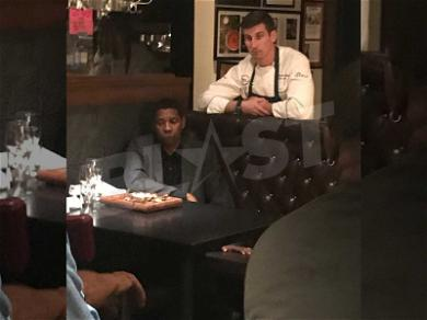 Denzel Works On His Acting 'Chops' at Southie Steak Joint