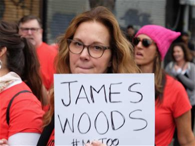 Elizabeth Perkins Calls Out James Woods at #MeToo Rally