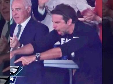 Bradley Cooper Front and Center for Philadelphia Eagles Super Bowl Victory!
