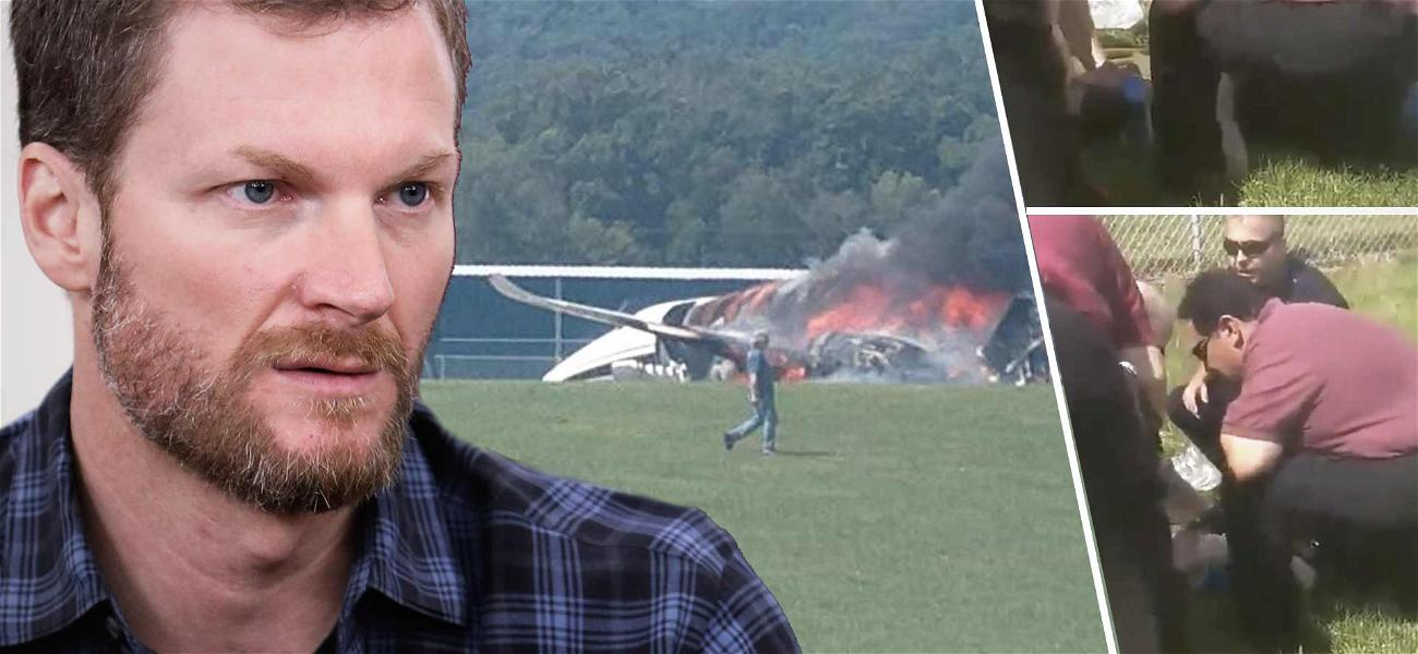 Dale Earnhardt Jr., Wife and Child All Okay After Fiery Plane Crash in Tennessee
