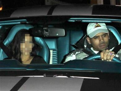 Chris Brown and an Unidentified Female Leave Club Together Before Alleged Sexual Battery (PHOTOS)