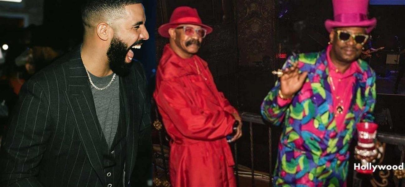 Drake Trolls His Dad With Hilarious Throwback Picture Of Red Pimp Suit
