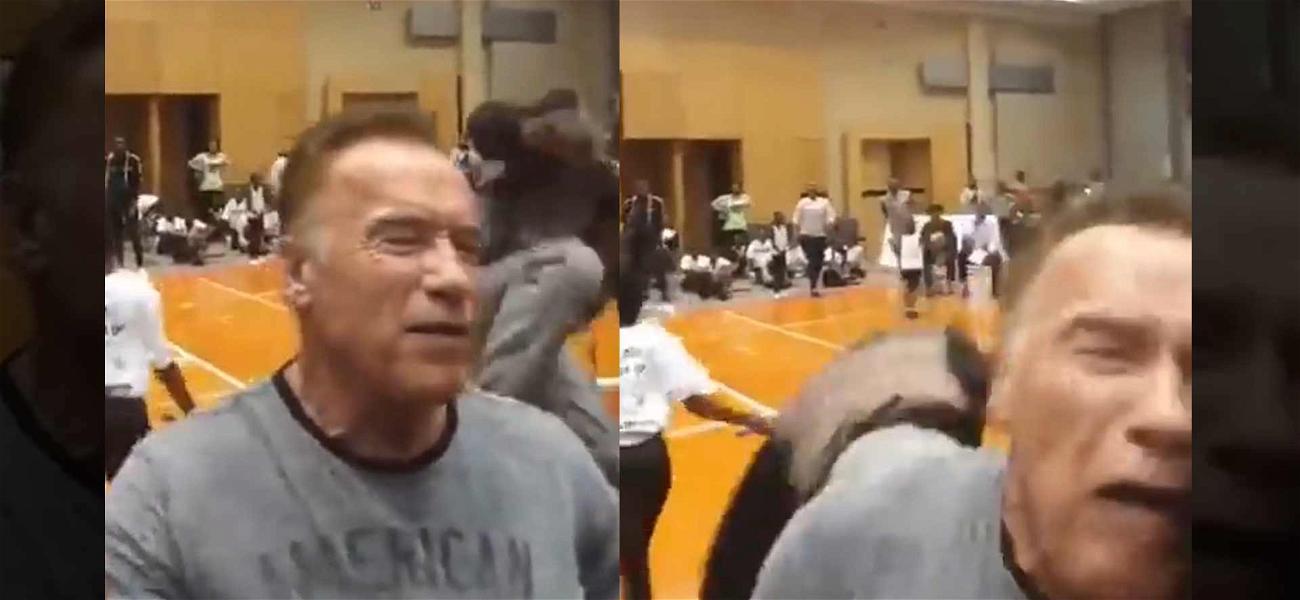 Arnold Schwarzenegger Dropkicked in South Africa