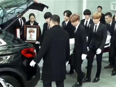 K-Pop Star Jonghyun's SHINee Bandmates And Fans Pay Final Respects At Funeral