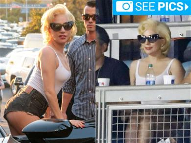 Lady Gaga Was the Best Barely-Dressed Fan at the World Series.